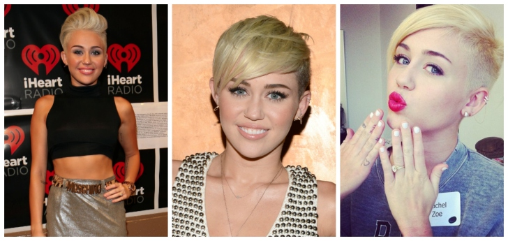 "Miley Cyrus' short haircut has definitely gotten a lot of ""buzz"". Not everyone can pull this short hairstyle off, but if you are looking for something edgy and bold, I say go for it!"