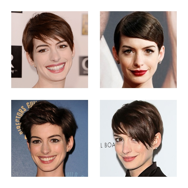 Pixie Anne Hathatway Short Hair Hairstyle